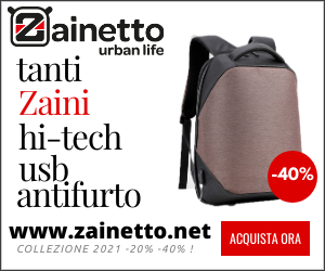 Zainetto.net vendita on line di zaini antifurto + usb