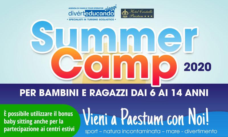 Summer Camp 2020 a Paestum (Salerno) per ragazzi dai 6 ai 14 anni